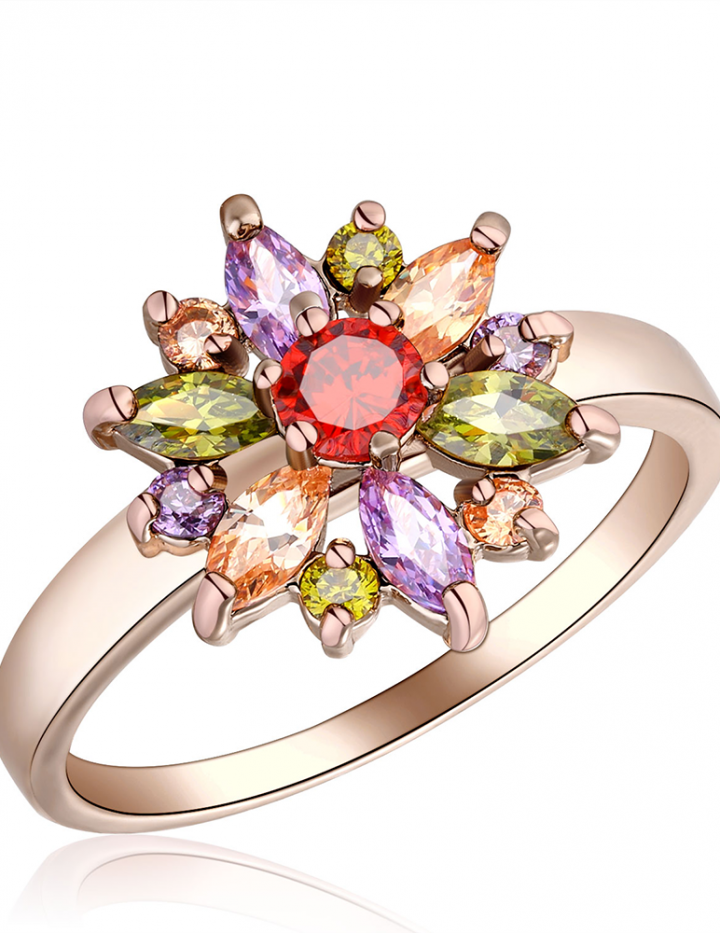 2.0 Carat Marquise & Brilliant Cut Sapphire 10K Rose Gold Filled Ring