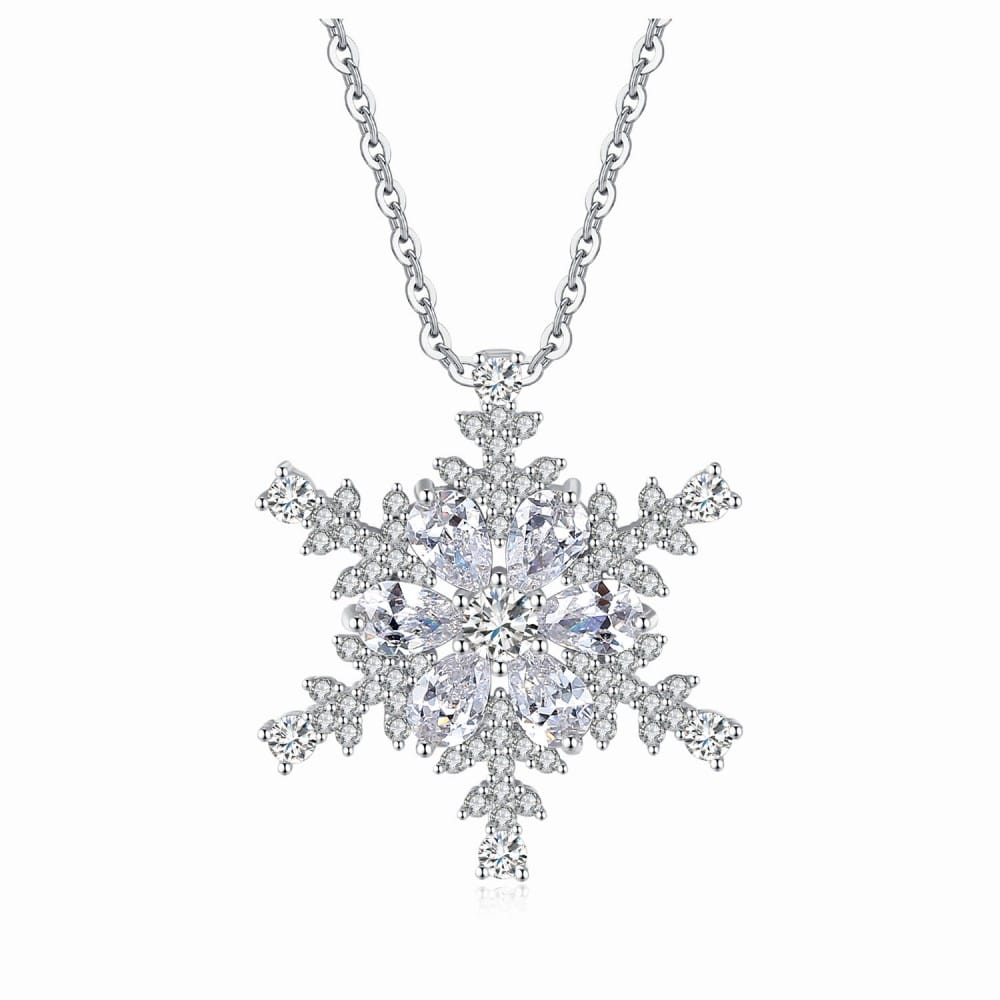 CRYSTAL SNOWFLAKE PENDANT CREATED WITH FINE CRYSTALS