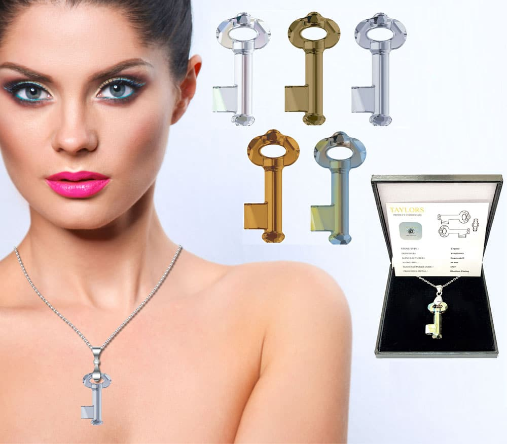 Crystal Key Pendant Designed by Yoko Ono